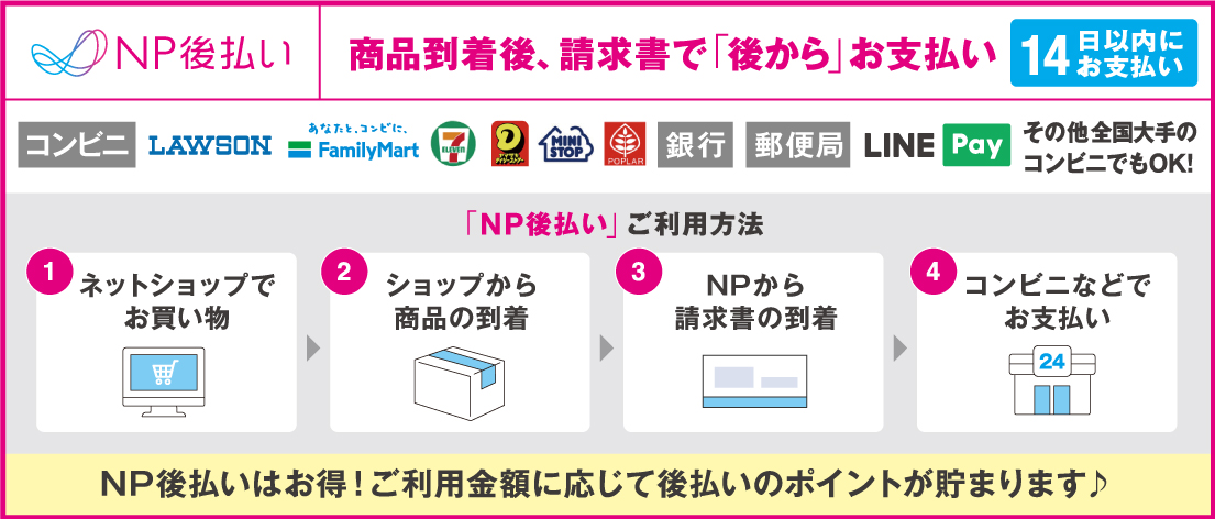 NP後払い(コンビニ・郵便局・銀行)