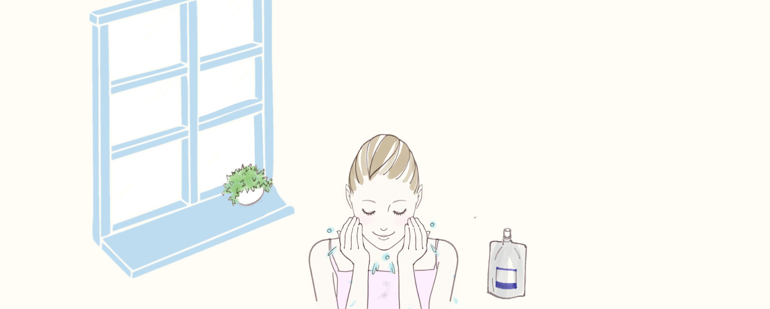 """美肌づくりの新習慣<br> """"朝パック洗顔"""""""